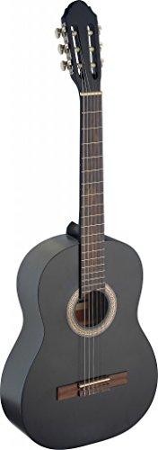 Stagg 6 Saiten C440 M BLK Konzertgitarre, Schwarz
