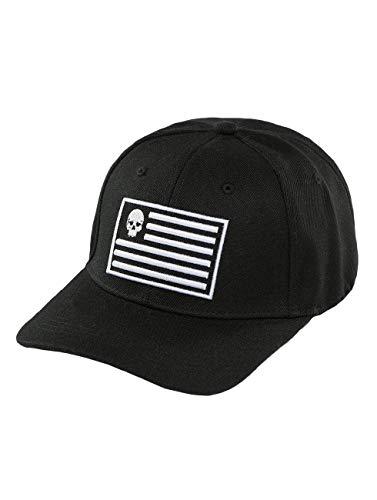 Thug Life Herren Snapback Caps Flag schwarz Verstellbar