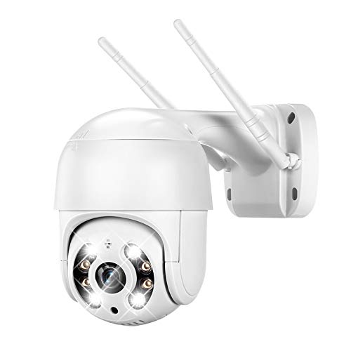 3MP PTZ Camera Outdoor, DEFEWAY 3MP Wireless Pan Tilt Zoom (4xDigital) Security Camera with AI Human Detection, 2 Way Audio, Color Night Vision, Floodlights and Sound Alarms
