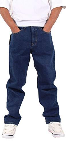Georgio Peviani Uomo Comfort Dritto Fit Denim Jeans, Indigo - Indigo, 38W / 33L