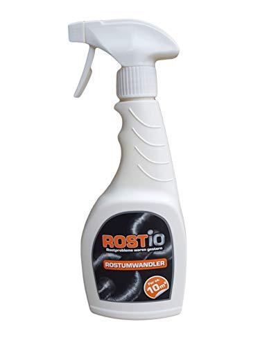 Rostio Rostumwandler & Grundierung Sprühflasche | Hocheffektives Rostkonverter Spray | 500 ml (1 Stück)
