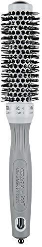 Olivia Garden Rundhaarbürste Ceramic + Ion 25, antistatische Ionen-Rundhaarbürste mit Keramikkörper und Nylonborsten 25/ 40 mm