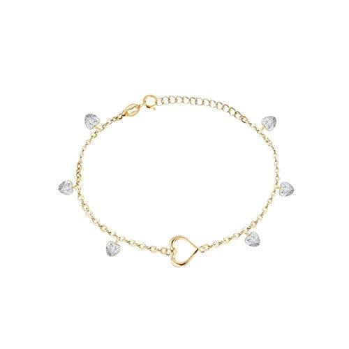Bluespirit Women's bracelet, LUMIERE Collection, made of yellow gold 750, zirconia - P.13M605000100