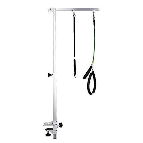 Kinbelle トリミングテーブル用アーム 交換用 伸縮可能ステンレスアーム 分割式 犬 猫 ペット用 トリミングテーブル部品 (B)