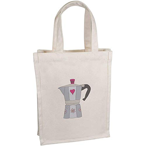 Azeeda 'Kaffeemaschine' Kleine Premium Canvas Einkaufstasche (BG00048095)