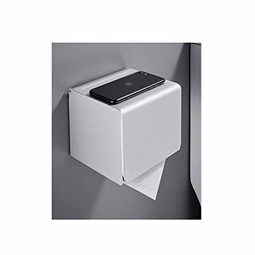 ZSP Dispensador de Toallas Tenedor de Papel higiénico con Pared de Reserva Sin perforación Fuerte adherencia Impermeable (Tamaño: 12 cm, Material: Espacio de Aluminio) (Color : Long, tamaño : 16cm)
