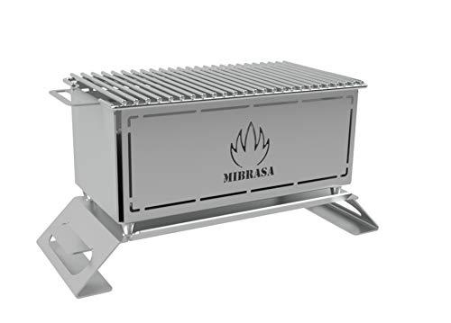 Mibrasa Hibachi MH 300 - Barbacoa portátil Totalmente Fabricada en Acero Inoxidable 304. ¡La imaginación y Creatividad del Chef con el Hibachi límites!…