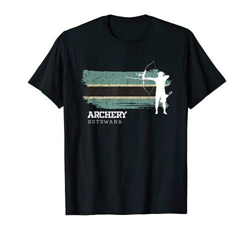 アーチェリー ボツワナ Botswana Flag 射手 弓と矢 Tシャツ