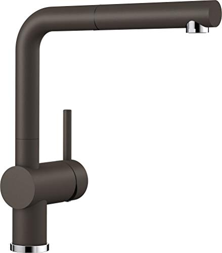 BLANCO LINUS-S – Küchenarmatur im SILGRANIT-Look mit herausziehbarem Auslauf – Hochdruck – Braun – 516697