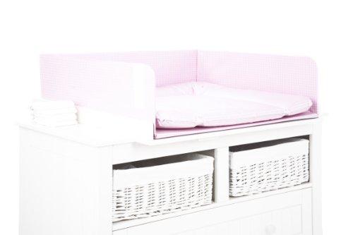 Pinolino 69676-7 - Absturzsicherung für Wickelkommoden, 'Karo Helsinki' rosa