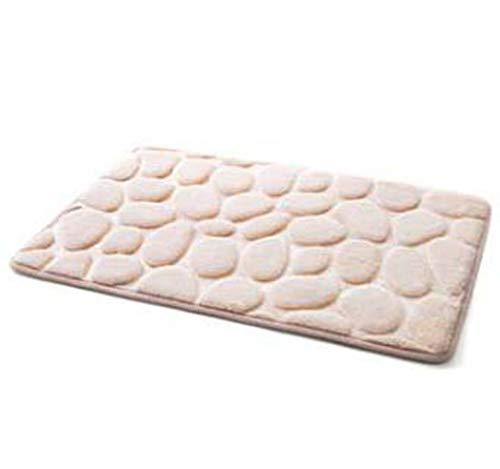 Einfacher Cobblestone Teppichboden Schlafzimmer Fußmatte Küche Badezimmer-Tür Wasseraufnahme Nicht-Rutsch-Matte 40 x 60 cm,Camel