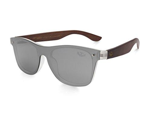 Gafas de lente plana MOSCA NEGRA modelo MIX PLATZ'La Dolce Vita' - Patillas madera