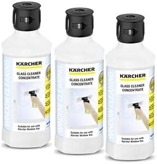Karcher - Solución concentrada para Limpieza de Superficies de Cristal de vacío, 3 Unidades, 1 Unidad