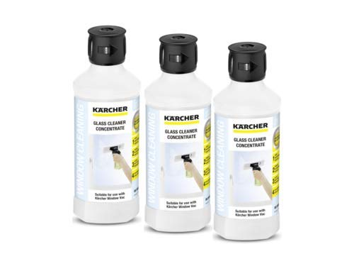 Karcher Window Vac Glass Cleaning Surface Shine Concentrate Solution (Pack of 3), 1