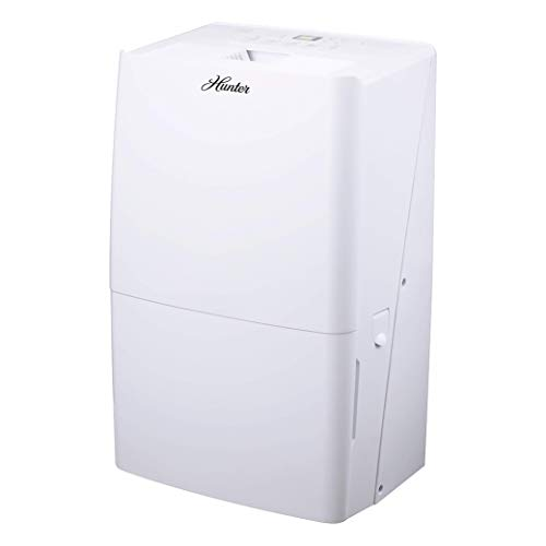 Review Hunter Fan Company Hunter 50 Pint Energy Star Dehumidifier for Basements, Large Rooms with Au...