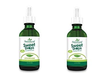 SweetLeaf Sweet Drops Liquid Stevia Sweetener SteviaClear 4 Fl Oz  Pack of 2