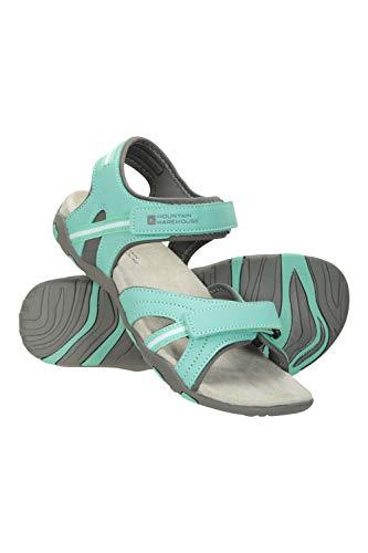 Mountain Warehouse Oia Sandalen für Damen - Leichte Sommerschuhe, Flexible Flipflops, Schaumpolsterung, Klettverschluss - Für Frühlingsspaziergänge, Reisen, Pool Minze 39 EU
