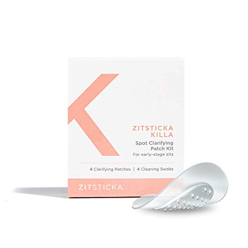 KILLA Kit by ZitSticka, translucent microneedle pimple patch for deep, early-stage zits, 4 pack