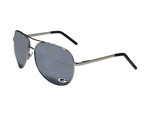 NFL Siskiyou Sports Fan Shop Green Bay Packers Aviator Sunglasses One Size Silver