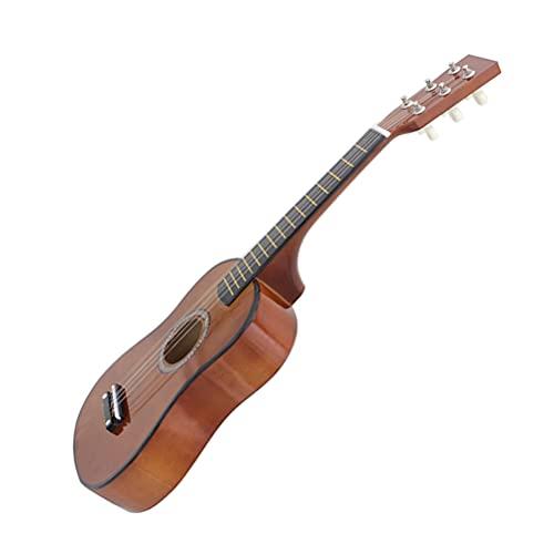 Generic 23 Konzert Ukulele- Multi Farben Mahagoni Akustische Mini Gitarre 6- Saiten Hawaiian Ukulele Gitarre Holz Kleinkind Gitarre für Erwachsene Kinder Anfänger (Kaffee)