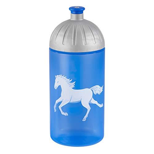 Step by Step - Borraccia 'Wild Horse', a prova di perdite, lavabile in lavastoviglie, senza BPA, per la scuola, l'asilo, bevande calde e gassate, per ragazze, 0,5 litri