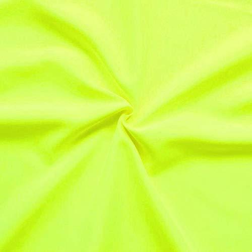STOFFKONTOR Modestoff Dekostoff universal Stoff Meterware Neon-Gelb