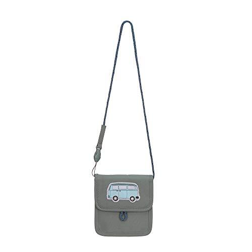 LÄSSIG Brustbeutel Brusttasche Umhängetasche Geldbeutel, Kordel mit Kindersicherung/Mini Neck Pouch, Adventure Bus, 13 cm
