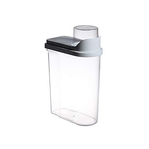 XYZMDJ Contenedor de Almacenamiento de Alimentos 2.5L Refrigerador de Cocina de plástico Almacenamiento de contenedor de arroz de Grano (Color : Gray)