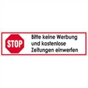 STOP keine Werbung- Aufkleber für Briefkasten- 2er Set-Digitaldruck