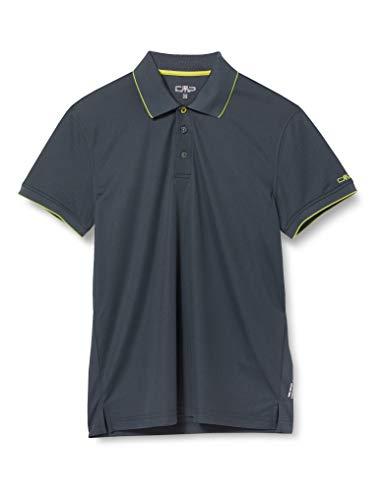 CMP Piquet Polo Shirt with UPF Homme, Jungle-Cactus, 54
