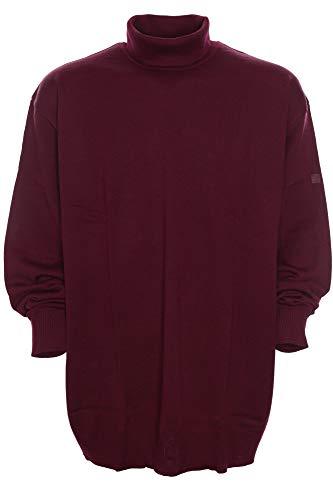 Maerz Rollkragen Pullover Pulli Rolli Wolle Merino Superwash Herren Plusgröße, Farbe:dunkelrot, Herrengrößen:64