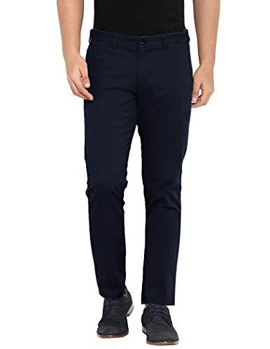 COOFANDY Men's Elastic Waist Pants Designer Cotton Basic Relaxed Pants Autumn