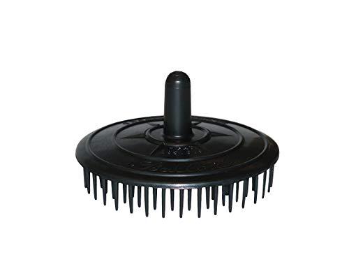 Massagebürste Massageboy Haarbürste Bürste 8 cm Durchmesser Made in Germany, Farbe:schwarz