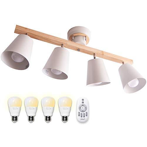VENTOTA リモコン 調光調色LED電球付 4灯シーリングスポットライト ペンダントライト~12畳