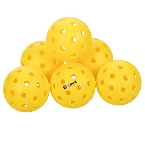 Pickleballs - Onix Pure 2 Outdoor (Yellow, 6-Pack)