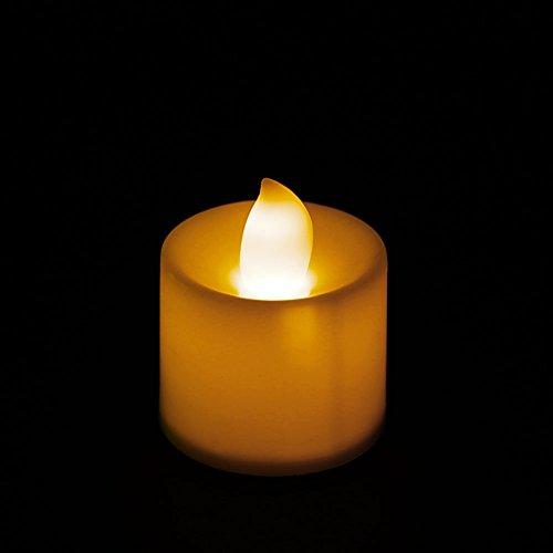 YAOYAN Vela LED sin llama, romántica, lámpara decorativa para casa, fiesta, cena o spa, lámpara de vela eléctrica