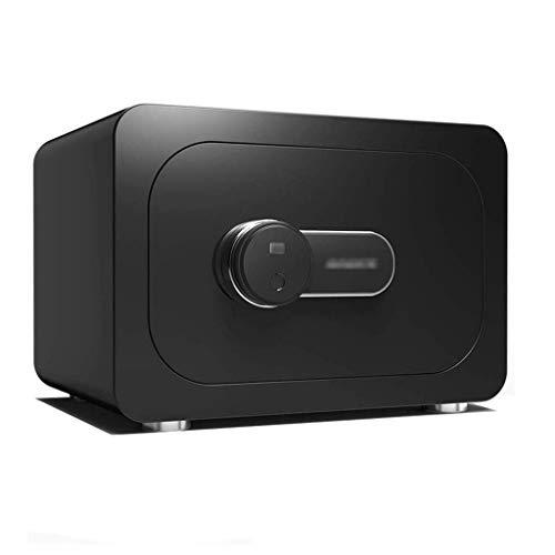 ZBMMBZ Die Safes, Die Startseite Kleine Fingerabdruck Anti-Diebstahl-Tresor Premium-Office-Tresor, Versicherung Genehmigt, 32 Mm Motorisierte Arretierbolzen Safe Schlüsselsafe (Color : Jazz Black)