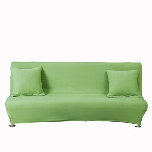 Funda de Sofá Elástica de Color sólido sin Reposabrazos,Funda de Sofá Cama Plegable Todo Incluido Cubre Protector de Muebles de Poliéster,Cubierta de Decoración de Sofá de Sala de Estar A 160-190CM