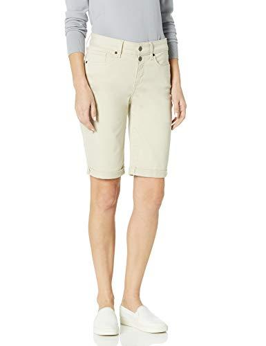 NYDJ Women's Briella Denim Shorts with ROLL Cuff, Feather, 14