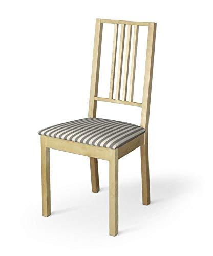 Dekoria Börje Sitzbezug Stuhlbezug Stuhlkissen passend für IKEA Modell Börjel grau-Ecru