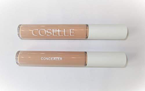 Coselle Concealer flüssig mit Allantoin und Panthenol für alle Hauttypen, auch für empfindliche Haut geeignet, höchste Qualität, ohne Tierversuche, ohne Mineralöl, Made in Germany!