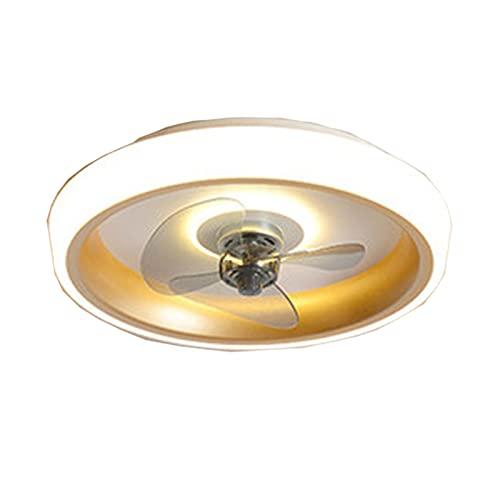Takfläkt med LED-lampor Acrylic ABS takfläkt med ljuskit Mute Finns i flera färger Kyla snabbt LED-dämpning Elektrisk fläkt Integrerat ljus (Color : Stepless dimming, Size : 90W D)