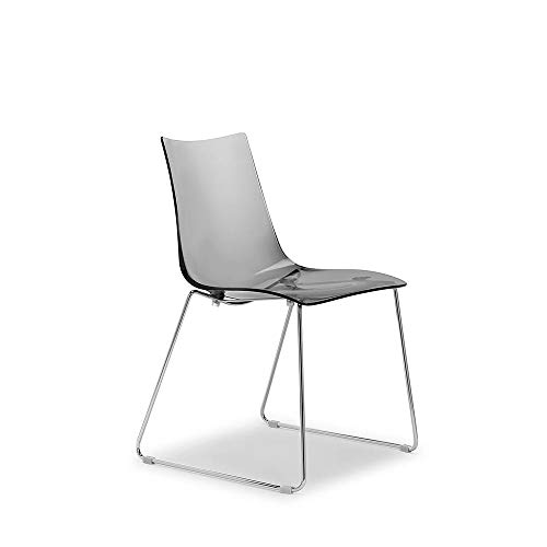 Scab Set 2 Design Zebra Antishock Chaise Pied traîneau Fumé Transparent