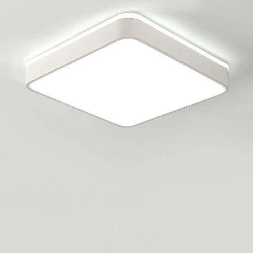 HviLit Luz de techo LED antideslumbrante de cuadrado blanco 18/27/36/56 W Lámpara...