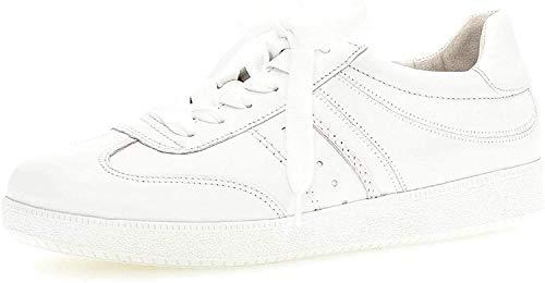 Gabor Damen Sneaker, Frauen Low-Top Sneaker,Best Fitting,Optifit- Wechselfußbett, Women's Women Woman Freizeit leger Halbschuh,Weiss,40 EU / 6.5 UK