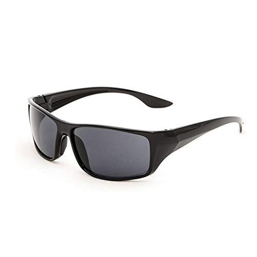 DBSUFV Gafas de Sol Deportivas para Hombre 5380 Marco Amarillo Gafas de visión Nocturna Conductor Espejo de conducción Nocturna Durable Portátil