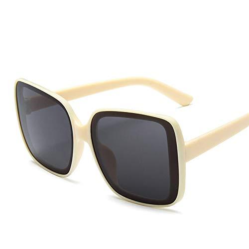 Moda Gafas De Sol para Mujer con Montura Cuadrada Grande, Gafas De Sol para Hombre, Gafas De Diseñador De Lujo para Mujer, Gafas Vintage 6