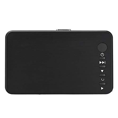 Tosuny Reproductor Multimedia de Video con Gran compatibilidad, Reproductor Multimedia con Control Remoto IR, Soporte para Unidad USB Disco Duro móvil Tarjeta SD, Reproductor Multimedia 1080P(Negro)