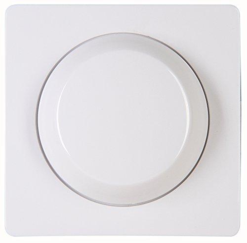 Kopp 333702185 DW Abdeckung Druck-Wechsel-Dimmer Paris arktis-weiß, Abmessungen 56,6 x 56,8 mm