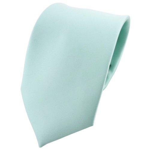 TigerTie - diseñador lazos de satén helles menta verde monocromo poliéster - Tie